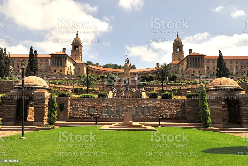 View of Union Buildings in Pretoria, South Africa stock photo
