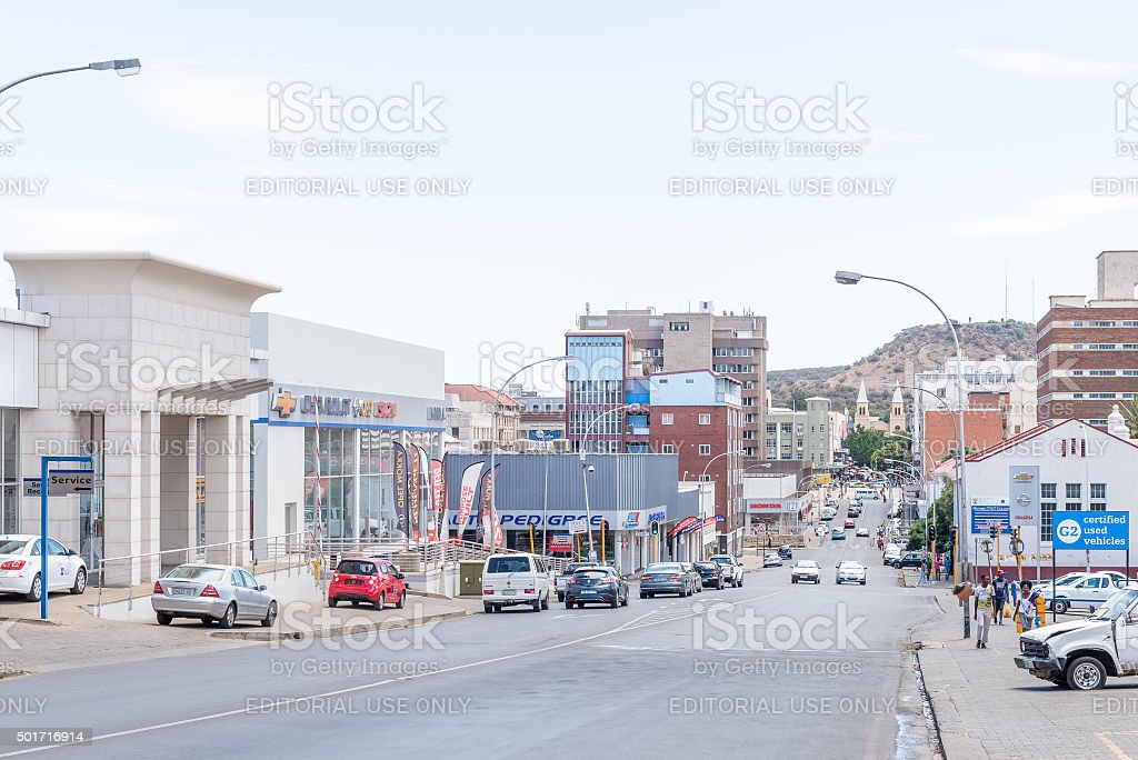 View of upper Church Street stock photo