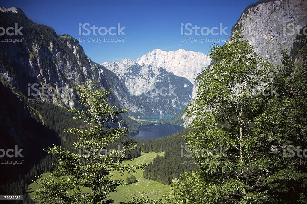 View of upper lake stock photo