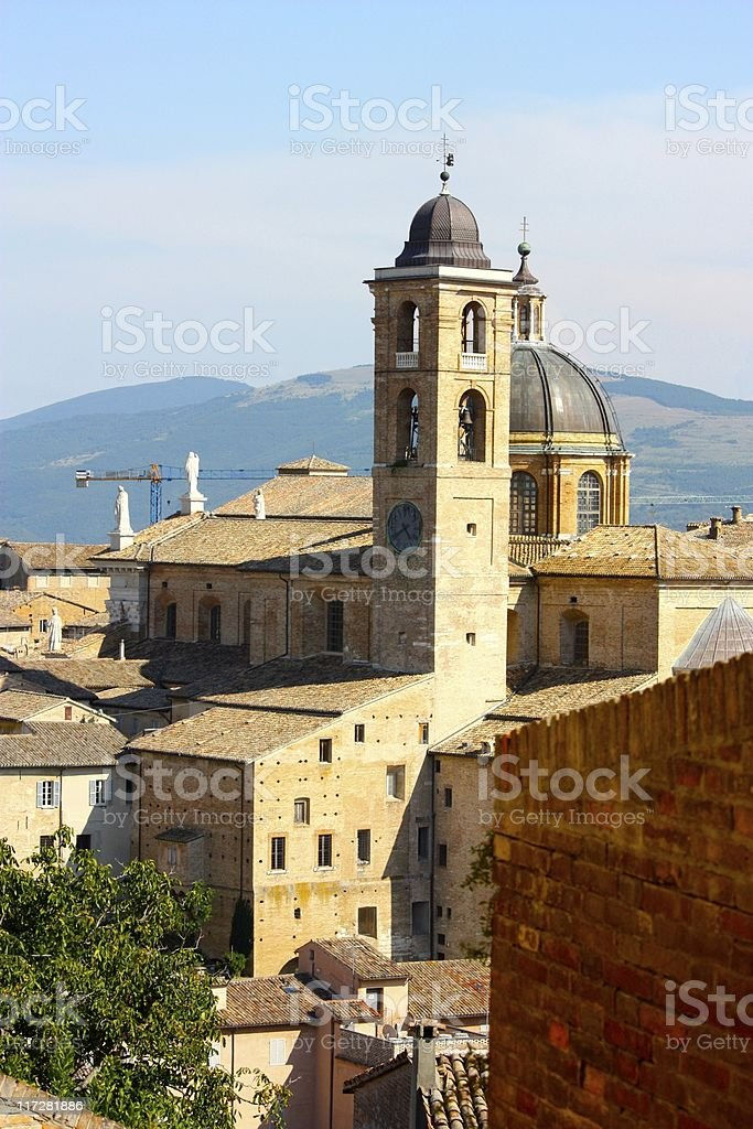 View of Urbino. royalty-free stock photo