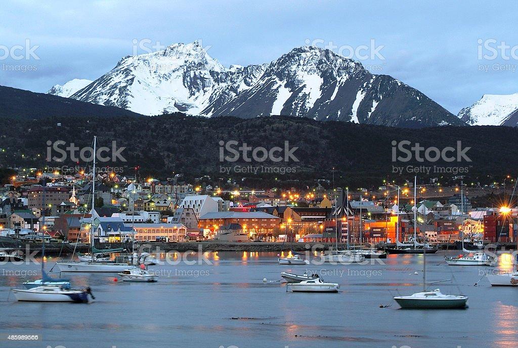 view of Ushuaia, Tierra del Fuego. stock photo