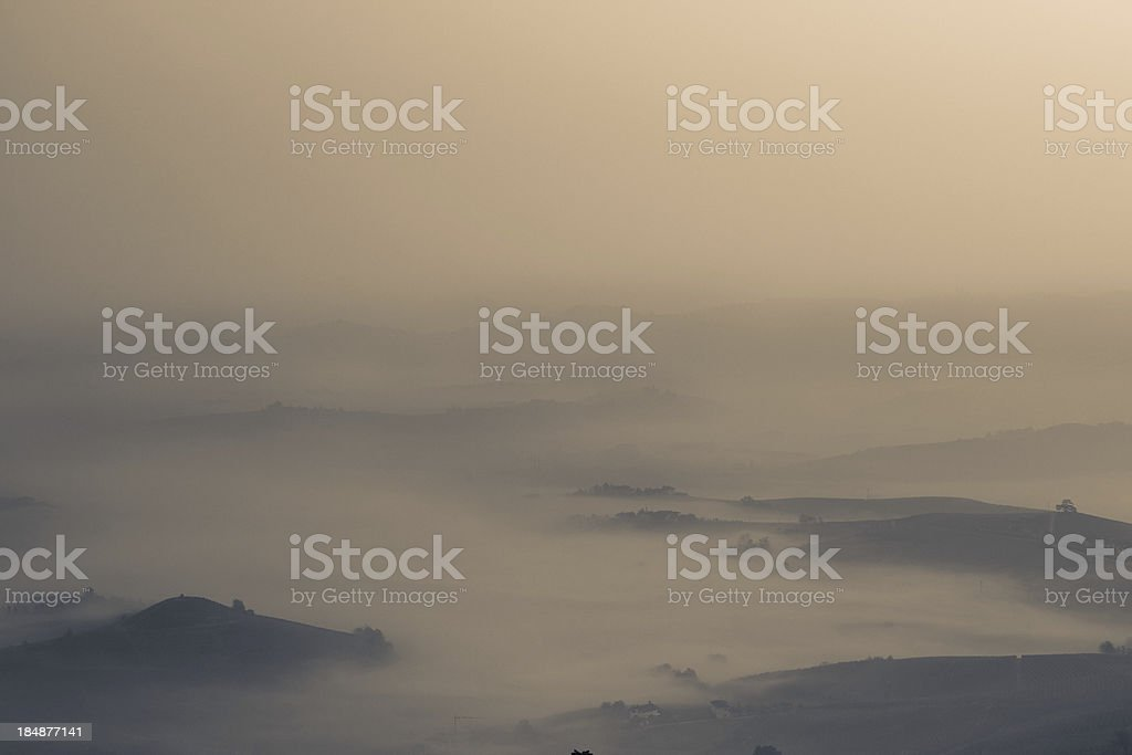 View of Val d' Orcia royalty-free stock photo