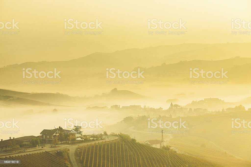 View of Val d' Orcia Tuscany, Italy royalty-free stock photo