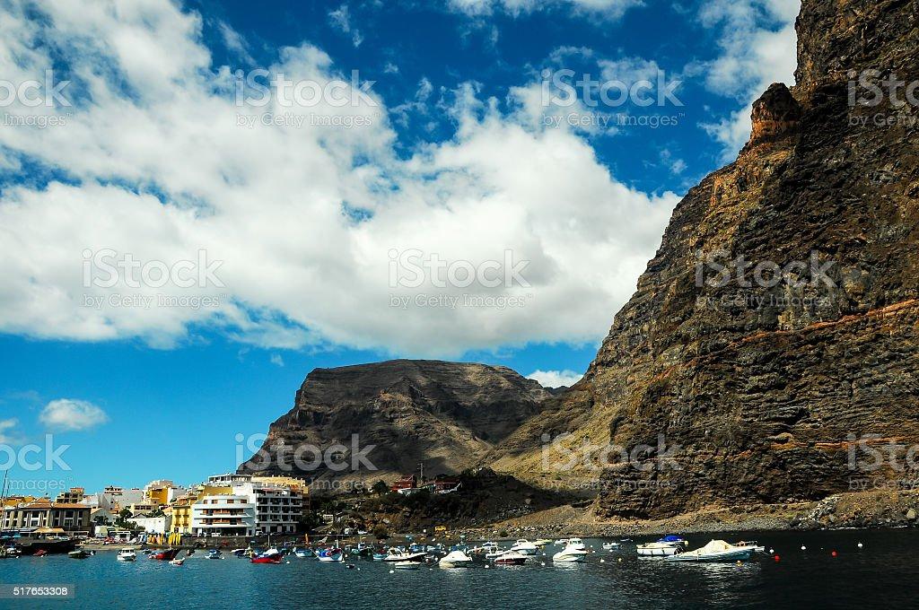 View of Valle Gran Rey La Gomera stock photo