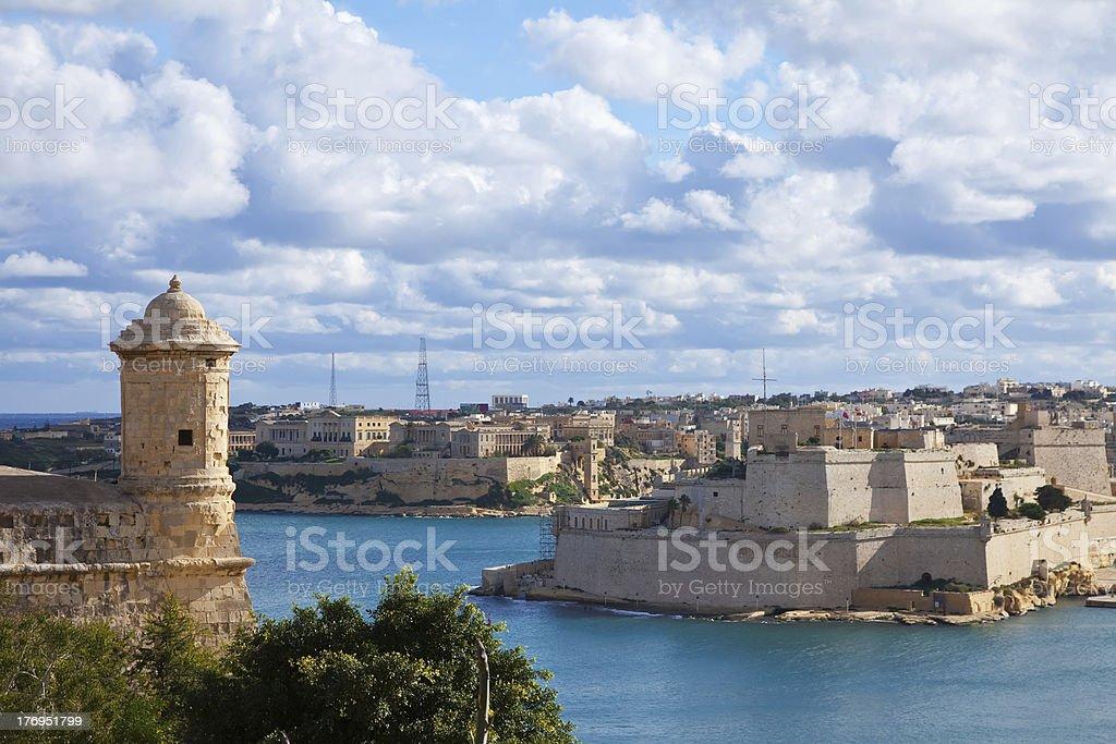 View of Valletta, Malta stock photo