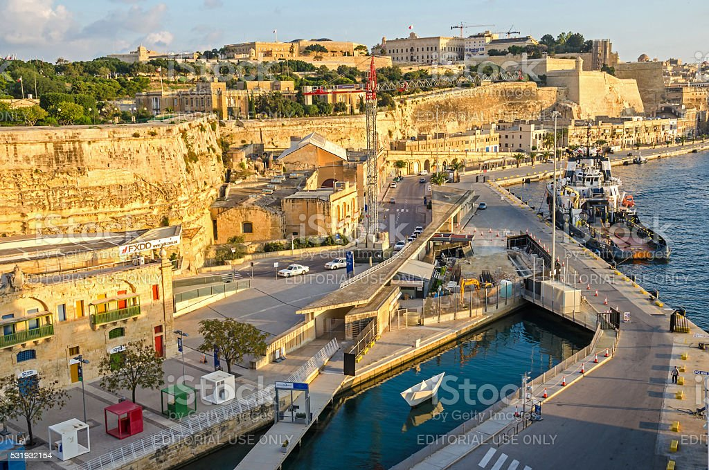 View of  Valletta stock photo