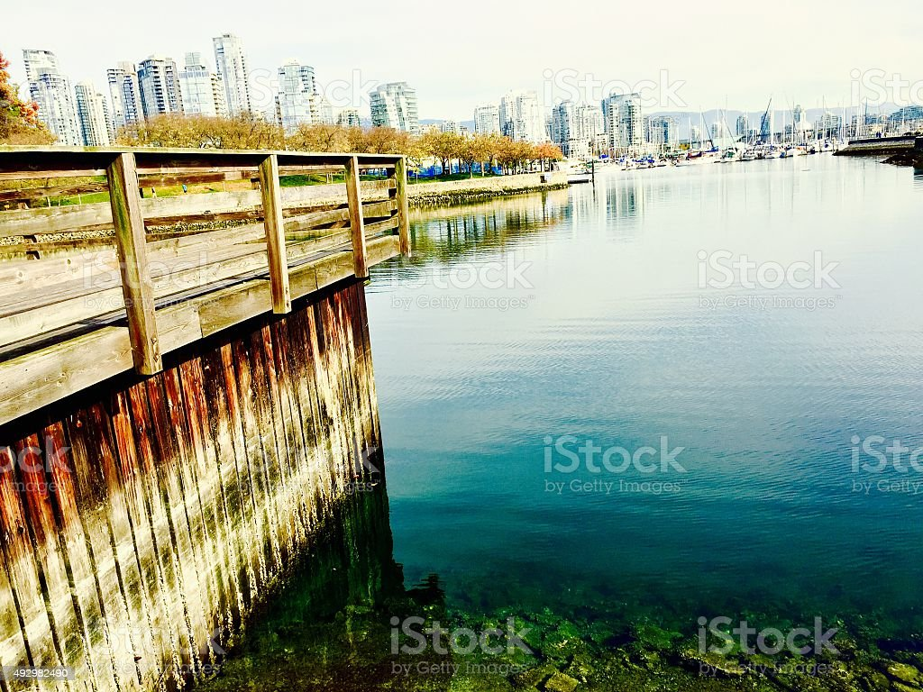 View of Vancouver, BC from shore royalty-free stock photo