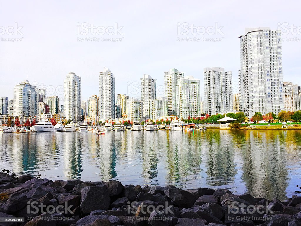 View of Vancouver, BC royalty-free stock photo