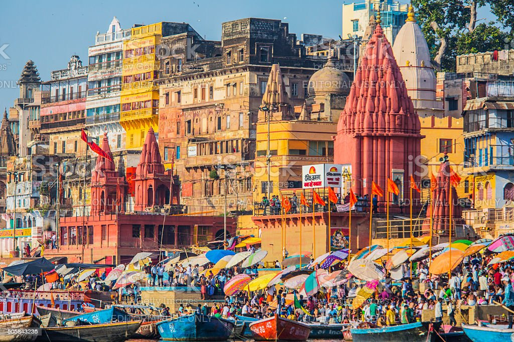 View of Varanasi India stock photo
