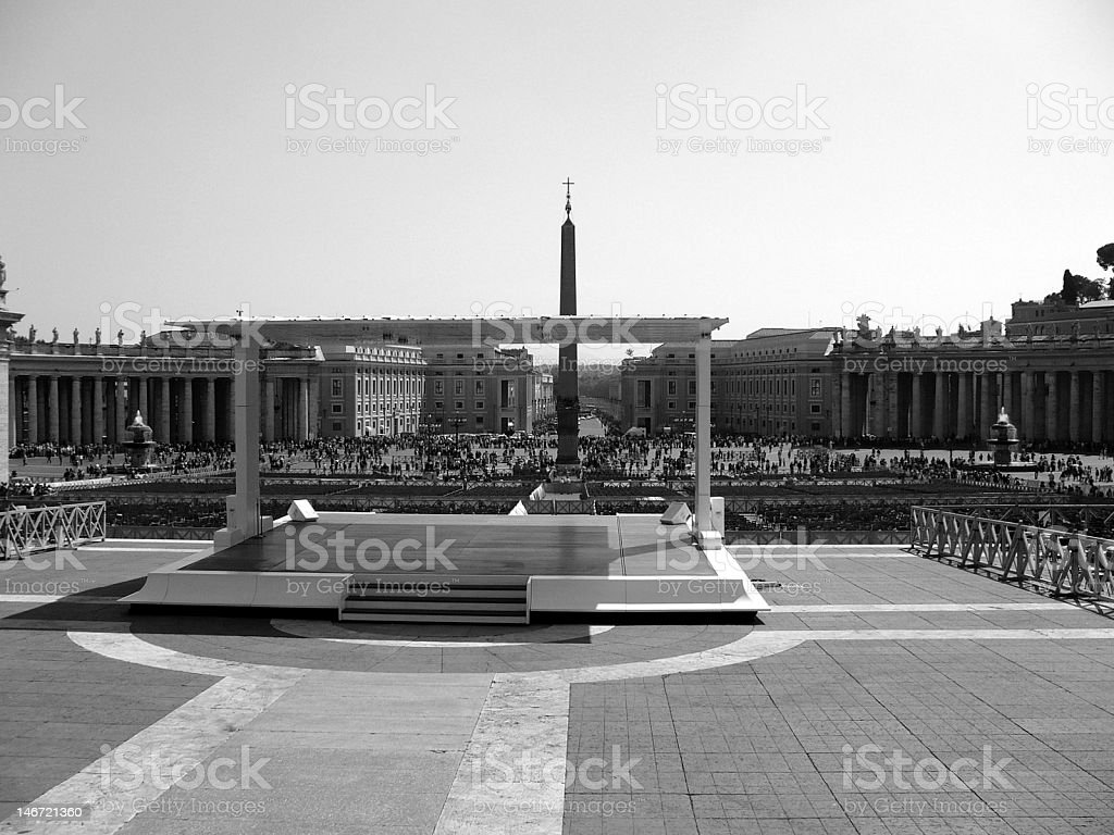 View of Vatican City, Rome (Italy) stock photo