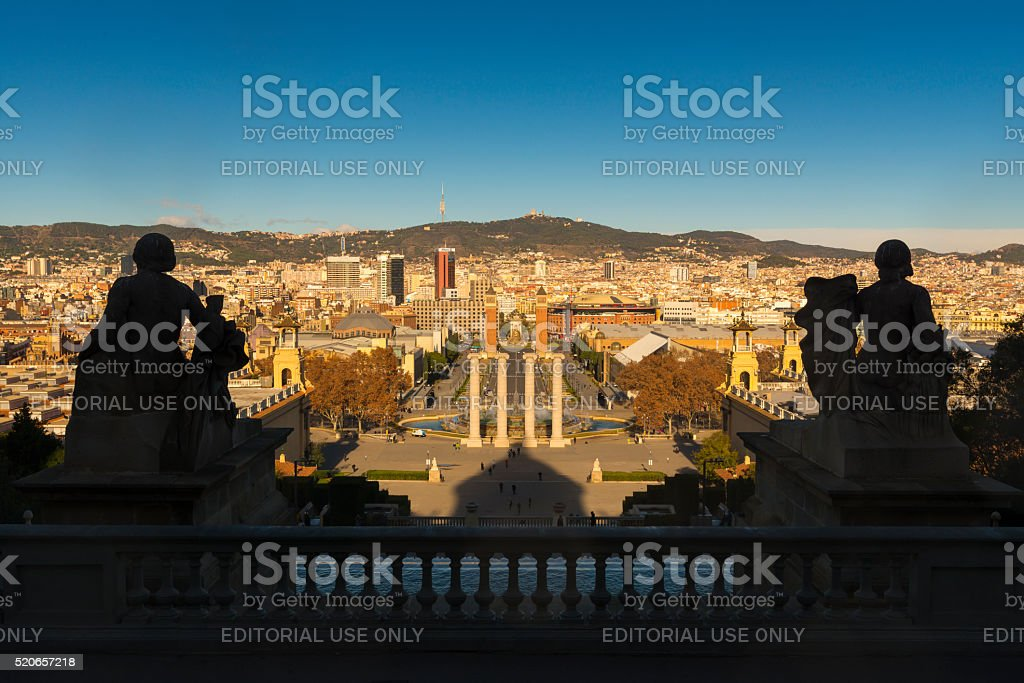 View Of Venetian Towers With Cityscape In Background stock photo