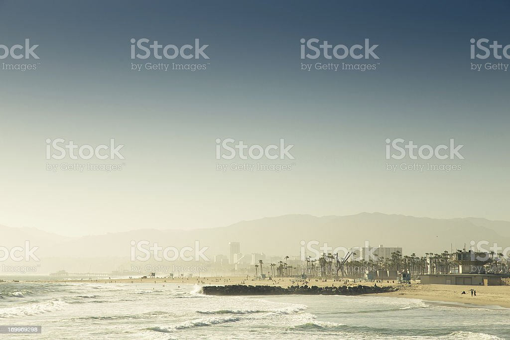View of Venice Beach from the Pier stock photo
