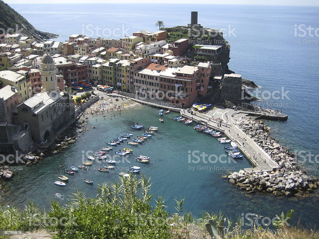 View of Vernazza, Cinque Terre, Italy royalty-free stock photo