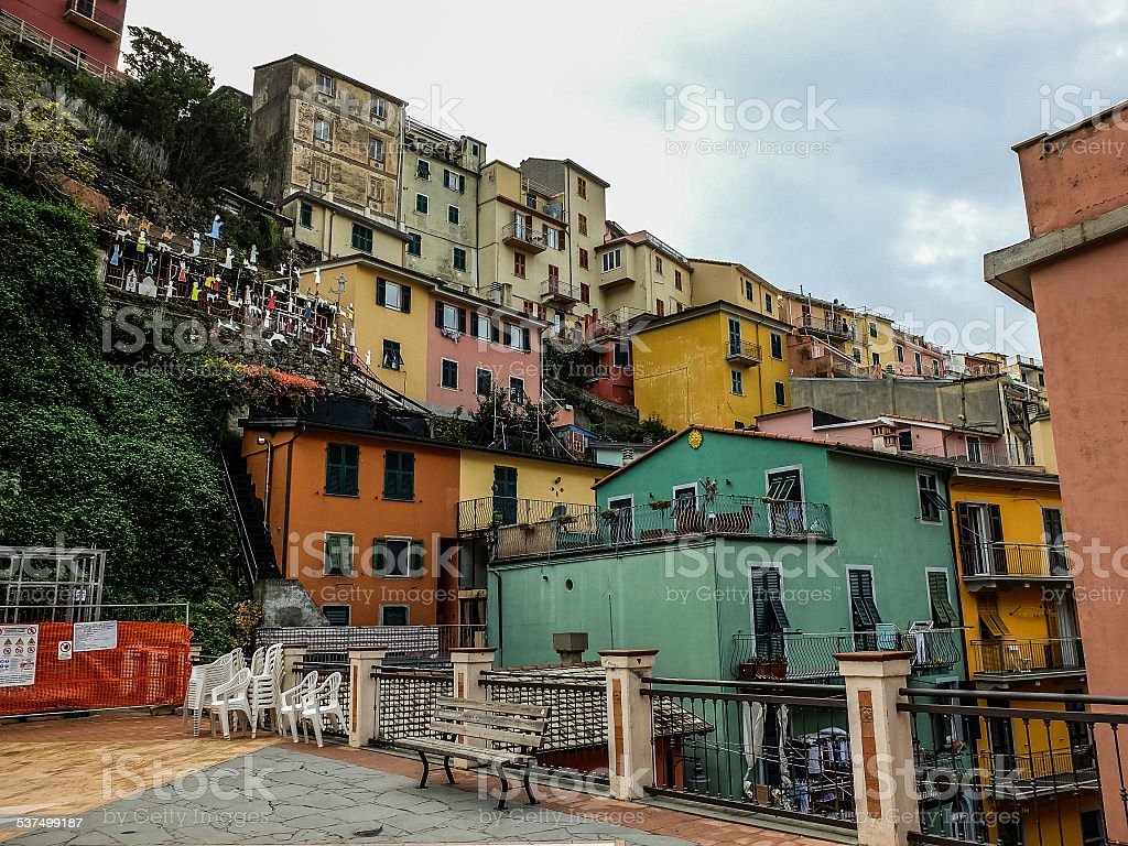 View of Vernazza in Cinque Terre Italy stock photo