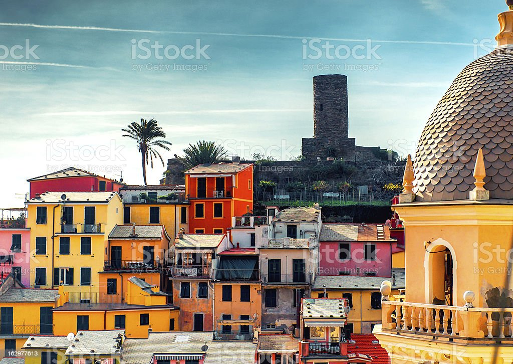 View of Vernazza. Italy stock photo