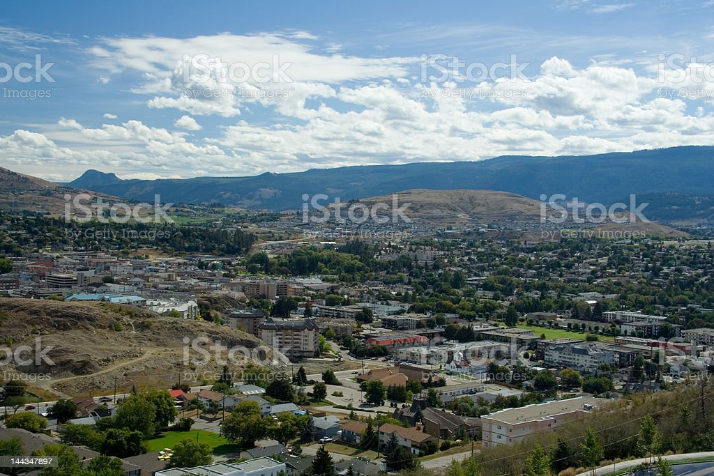 View of Vernon, BC royalty-free stock photo