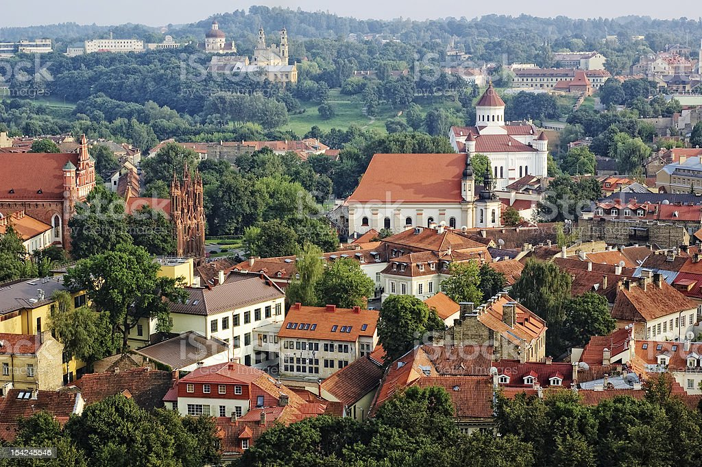View of Vilnius old town, Lithuania royalty-free stock photo