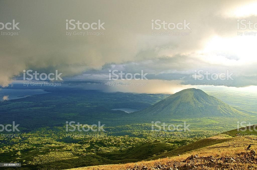 View of Volcano in Nicaragua stock photo