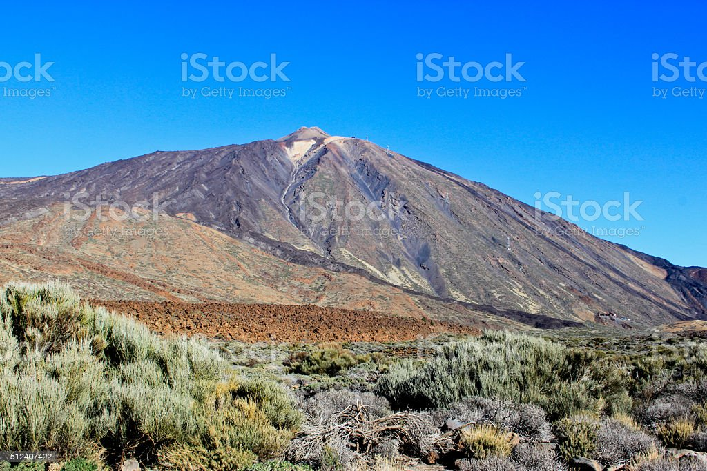 View of volcano Mount Teide stock photo