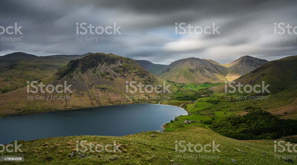 View Of Wasdale Head In The Lake District. stock photo