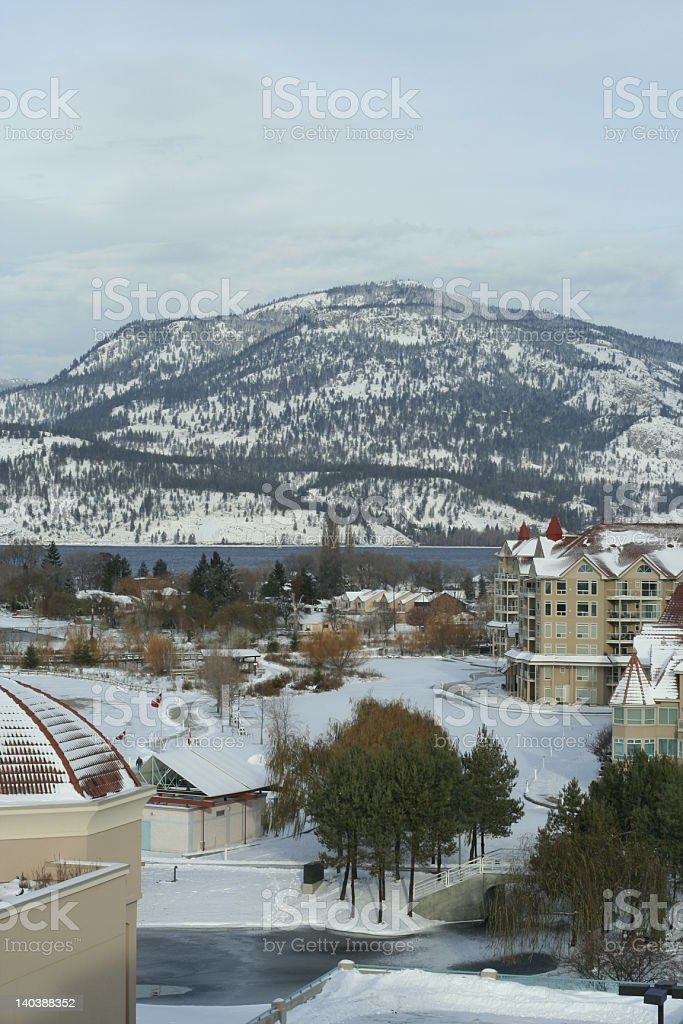 View of Waterfront Park, Kelowna, British Columbia royalty-free stock photo