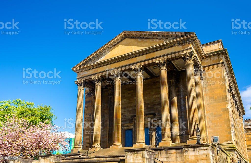 View of Wellington Church in Glasgow - Scotland stock photo