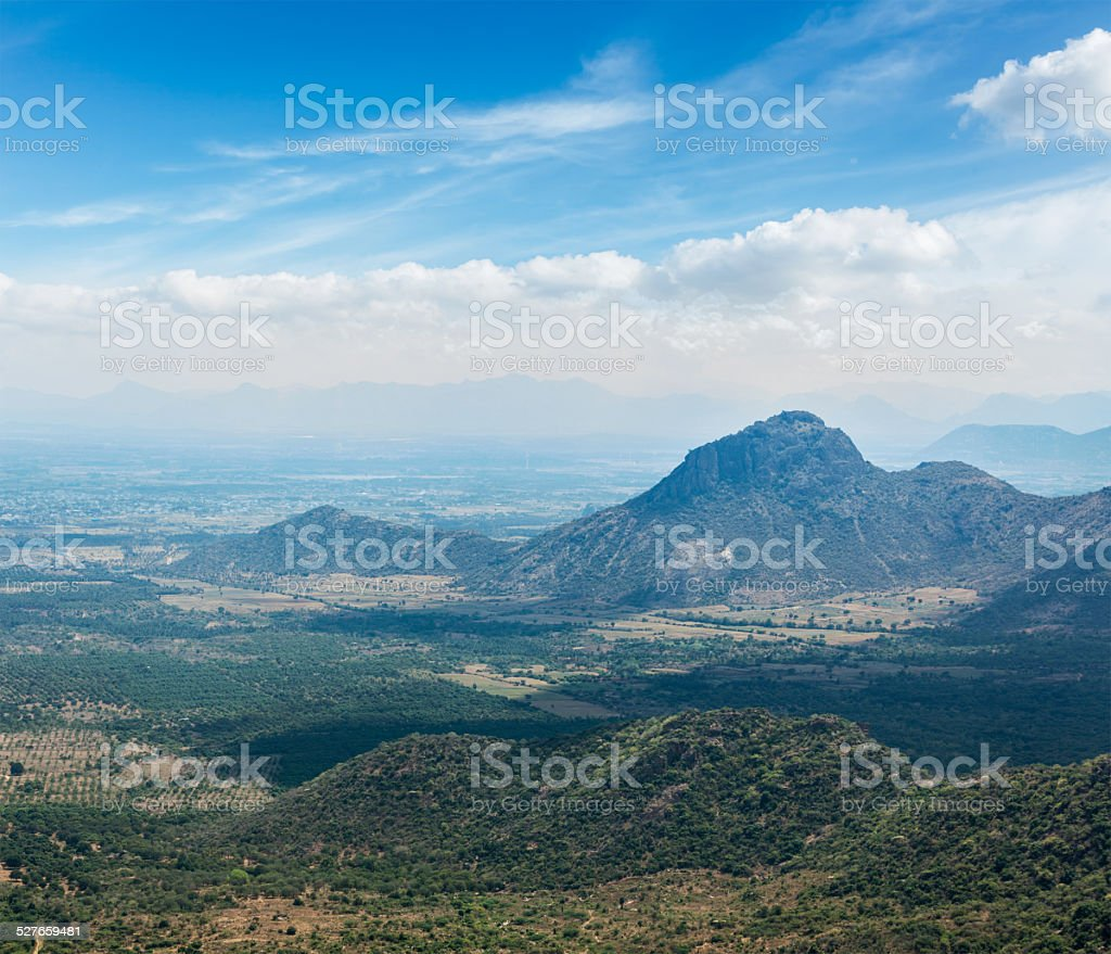 View of Western Ghats mountains, India stock photo
