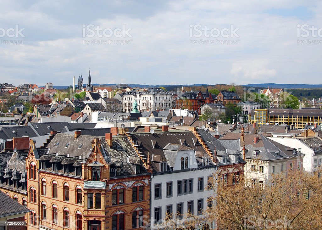 A view of Wiesbaden in Germany stock photo
