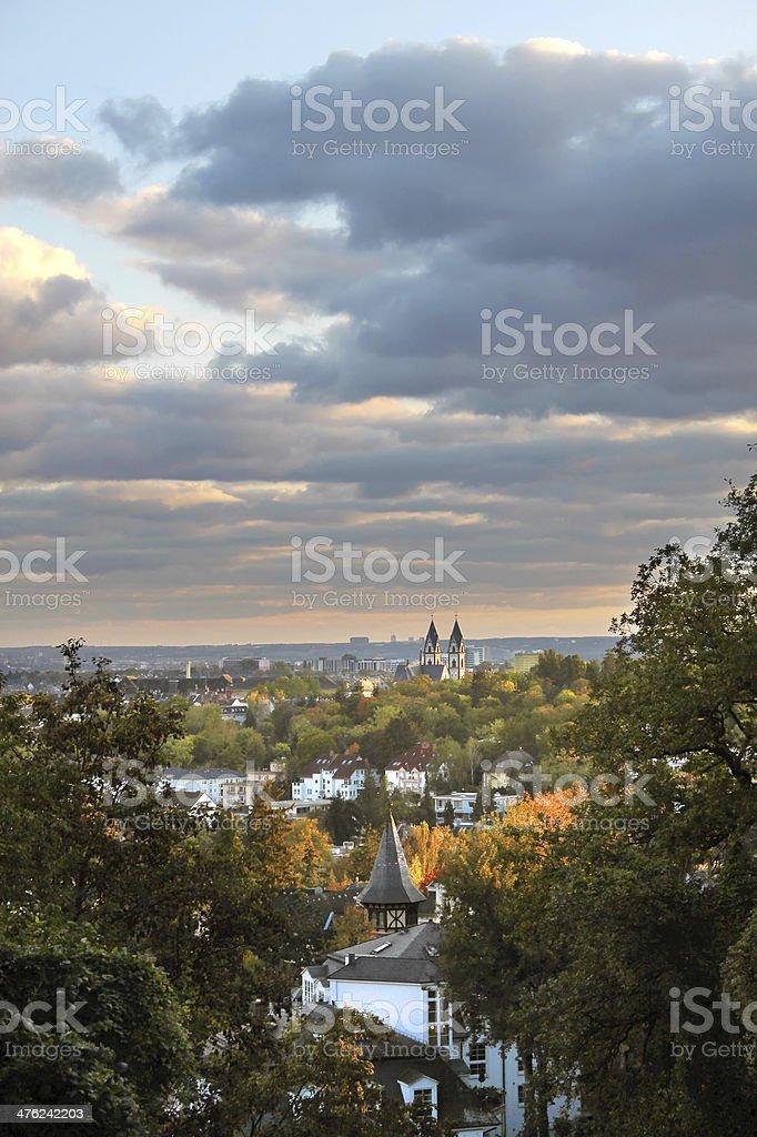 View of Wiesbaden stock photo