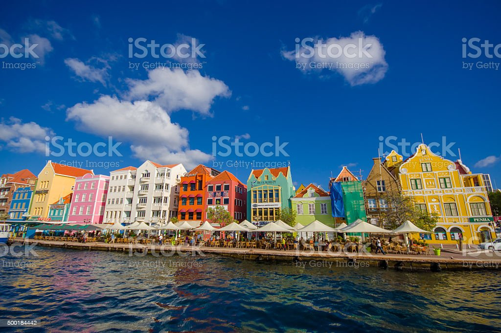 View of Willemstad. Curacao, Netherlands Antilles stock photo