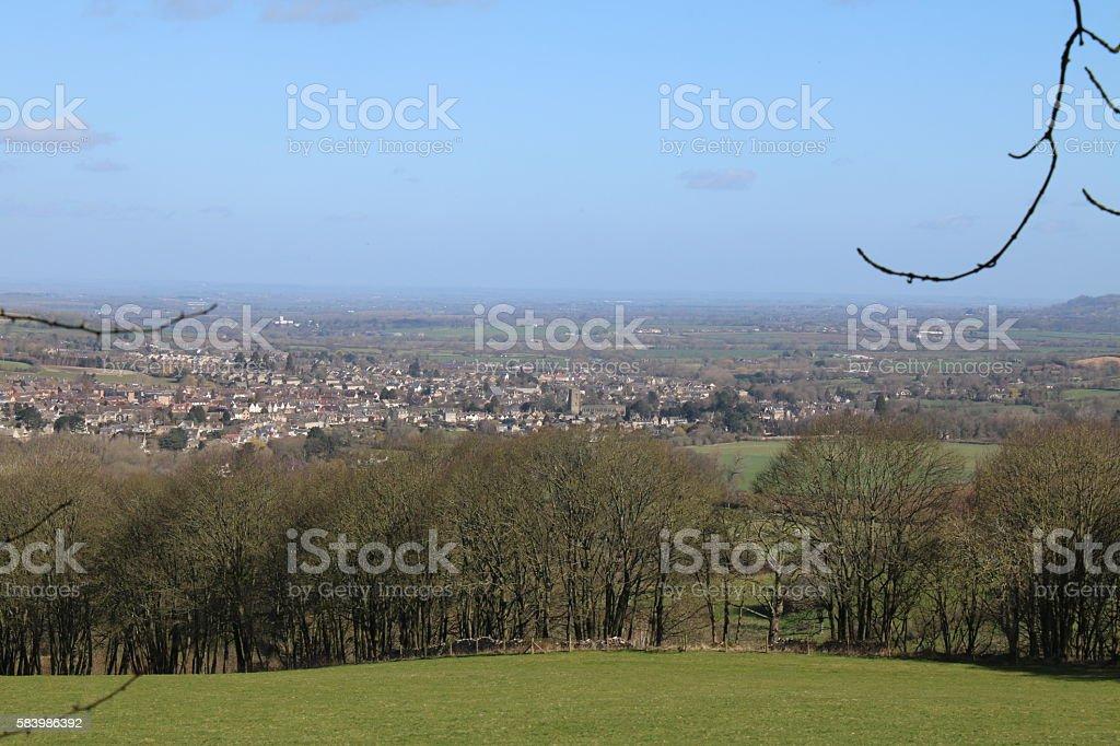 View of Winchcombe stock photo