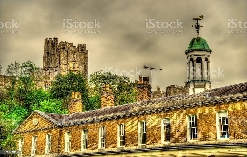View of Windsor Castle over St George's School - England stock photo