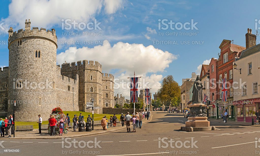 View of Windsor Castle, United Kingdom stock photo