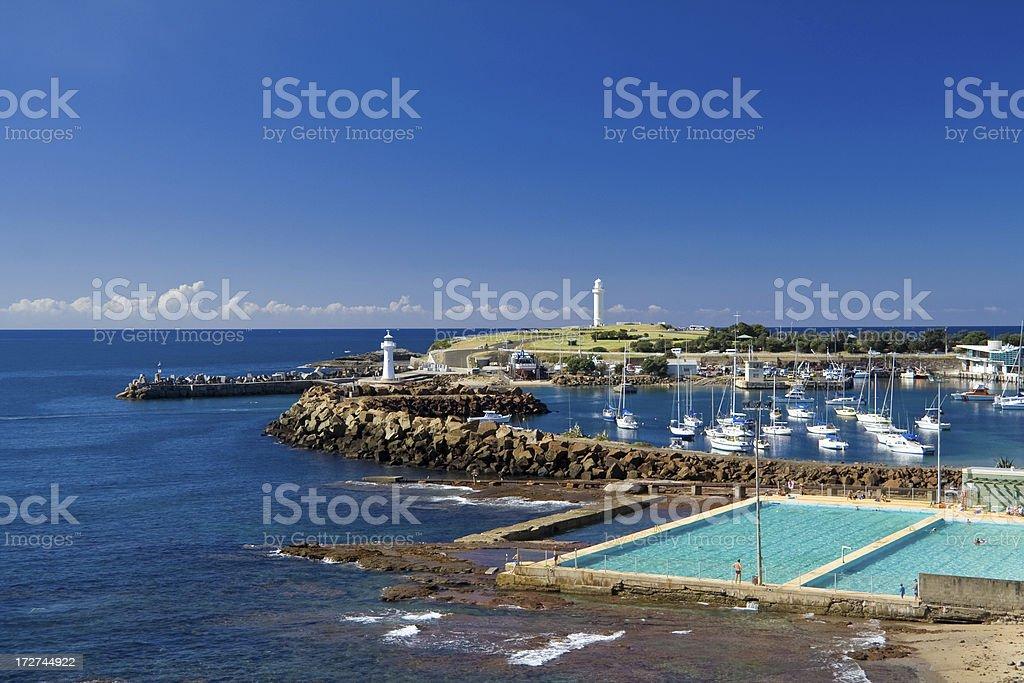 View of Wollongong, Australia royalty-free stock photo