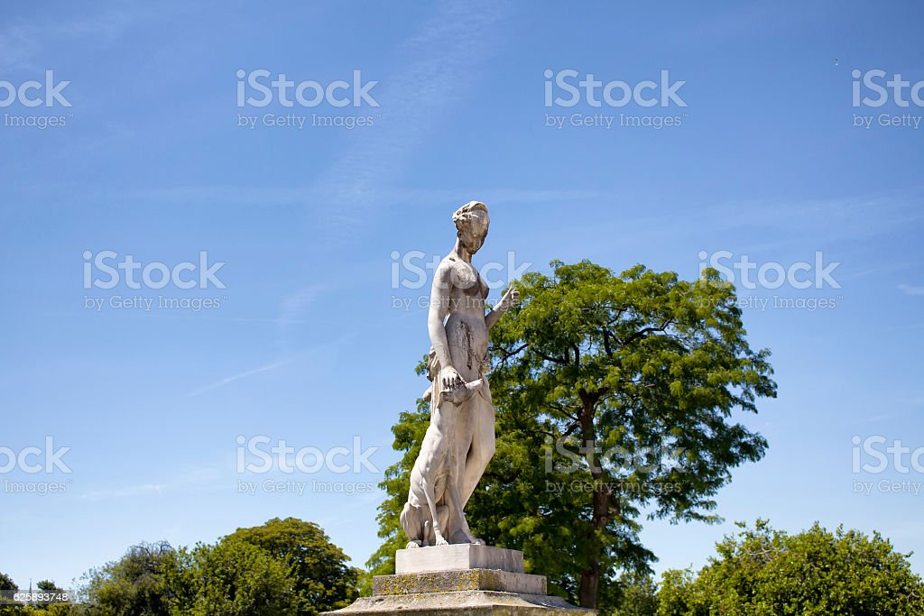 View of woman sculpture stock photo