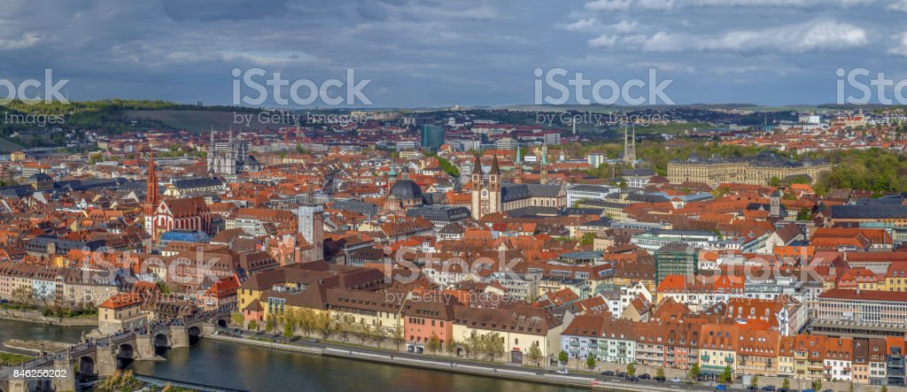 View of  Wurzburg, Germany stock photo