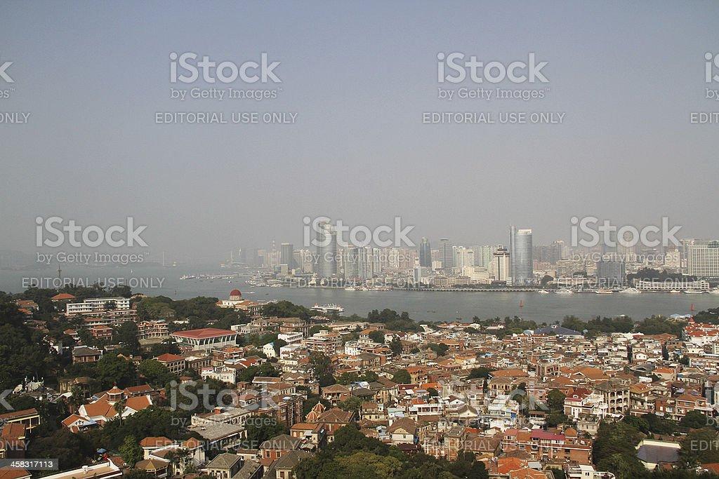 Vista di Xiamen di Gulangyu foto stock royalty-free