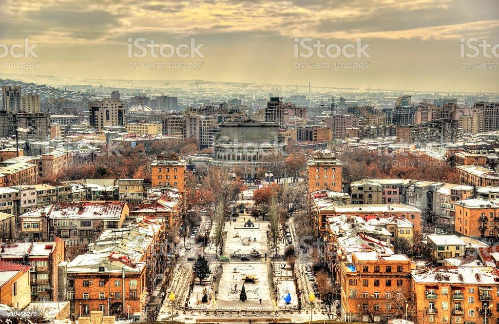 View of Yerevan with stock photo