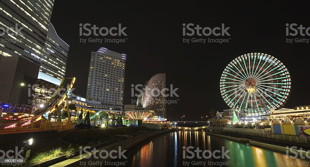 view of yokohama skyline at minato-mirai area stock photo