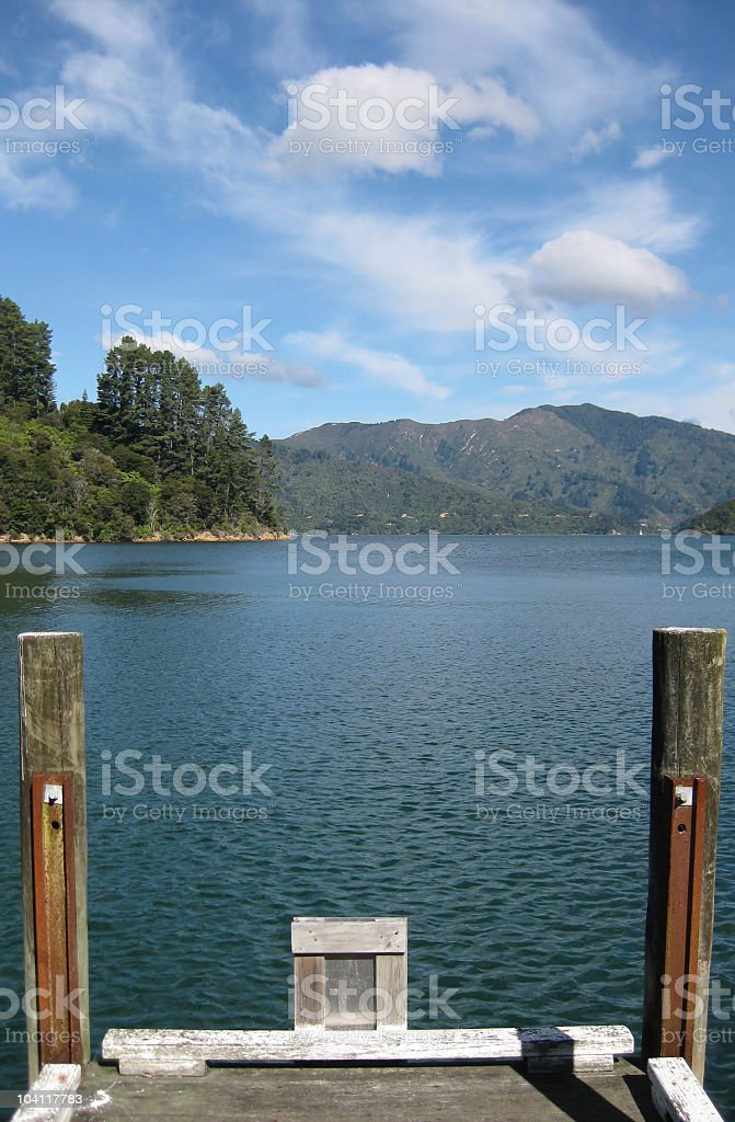 View off the end of pier/jetty royalty-free stock photo