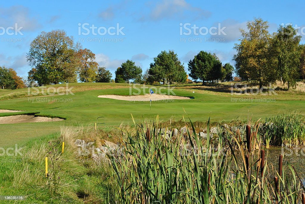 view on a parkland golf course royalty-free stock photo