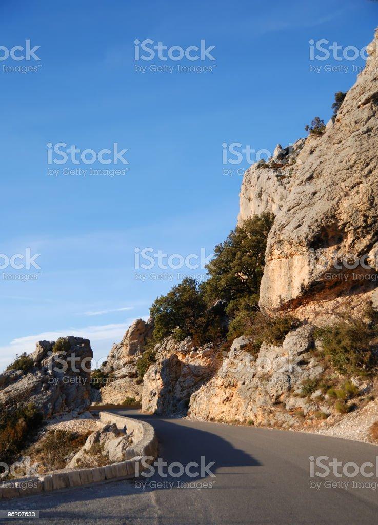 Ver em uma Estrada de montanha, França foto de stock royalty-free