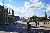 View on a street in Slotsholmen and Old Stock Exchange