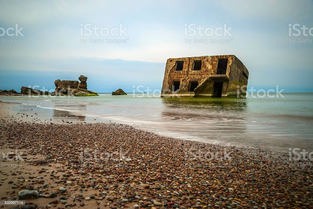 View on abandoned ussr Northern fotress, Liepaja stock photo
