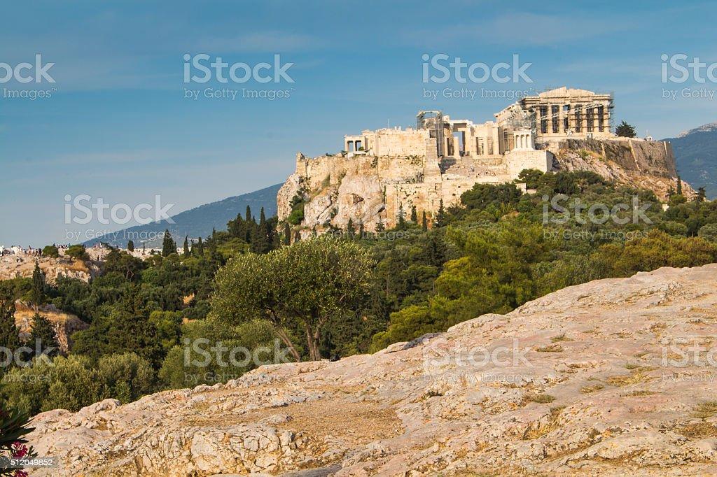 View on Acropolis, Athens, Greece stock photo