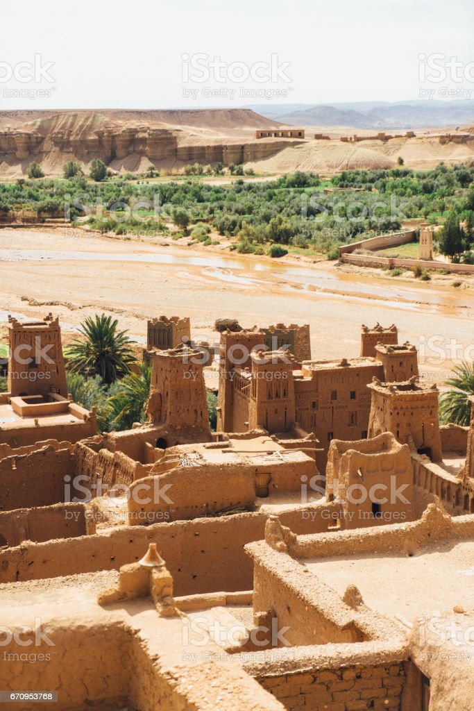 View on  Ait Ben Haddou Casbah stock photo