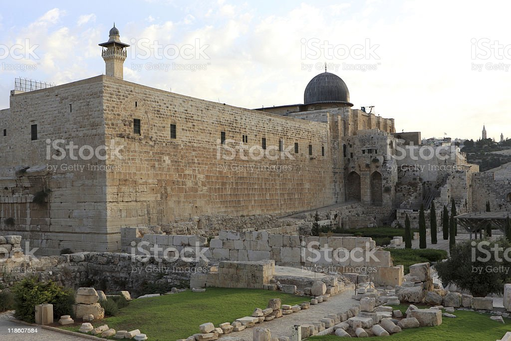 View on Al-Aqsa Mosque royalty-free stock photo