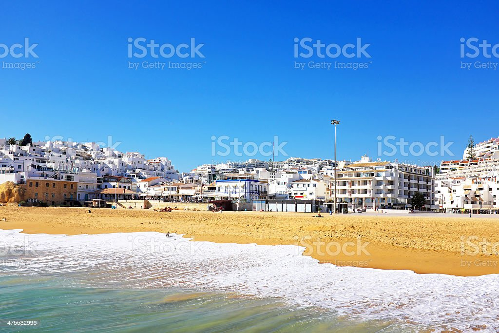 View on Albufeira in the Algarve Portugal stock photo