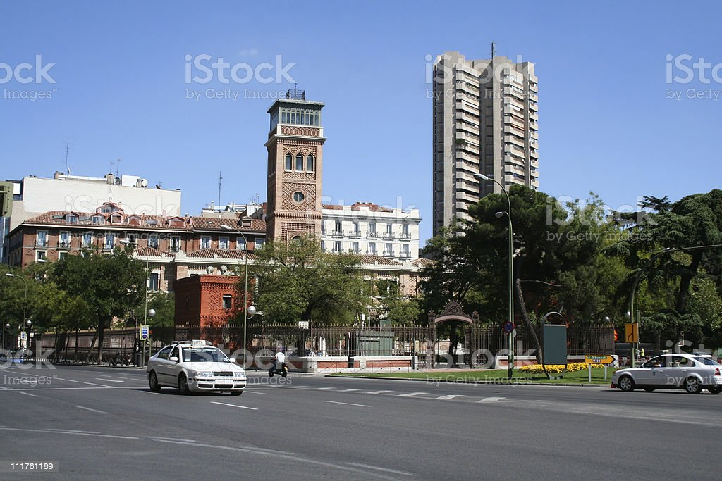 View on Alcala street in Madrid. royalty-free stock photo