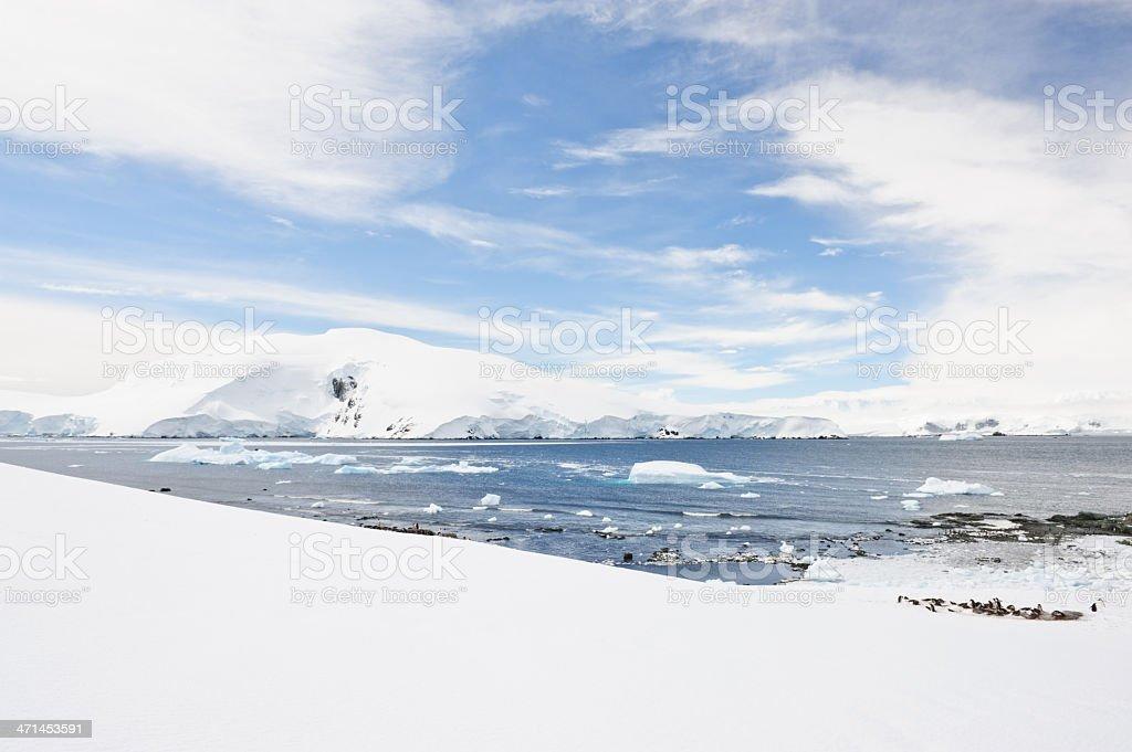 View on Antarctica stock photo